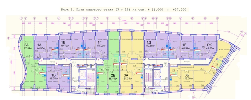 Планировки квартир в Жилом комплексе Никольско-Трубецкое, г. Балшиха