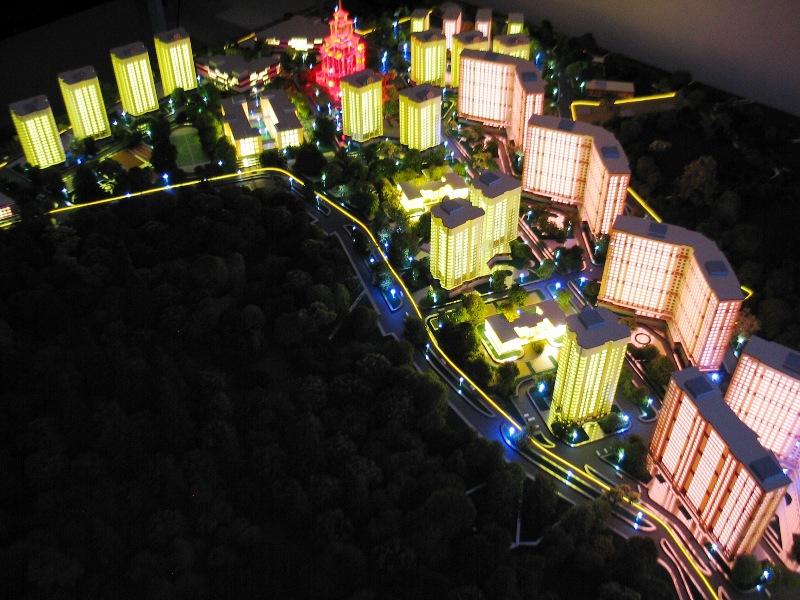 Подсветка  домов-книжек на Новом Арбате. Ma16